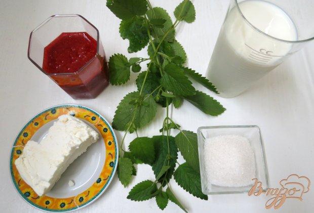 Рецепт Молочно - творожный коктейль с клубникой