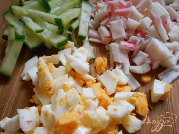 Рецепт Салат с крабовыми палочками и морковью по-корейски