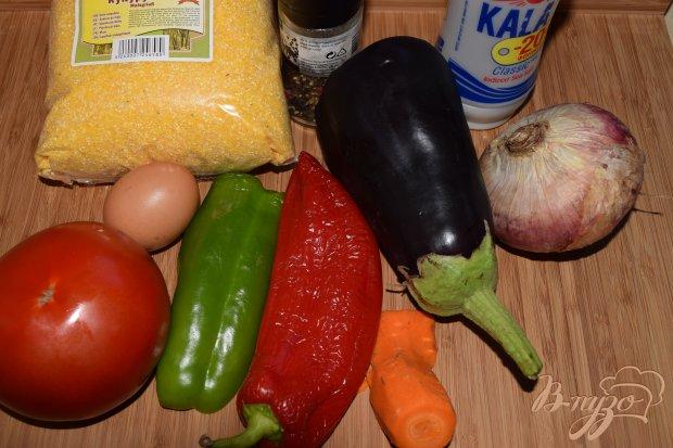 Рецепт Полента с баклажанами