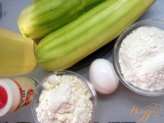 Рецепт Кабачковые оладьи с творогом