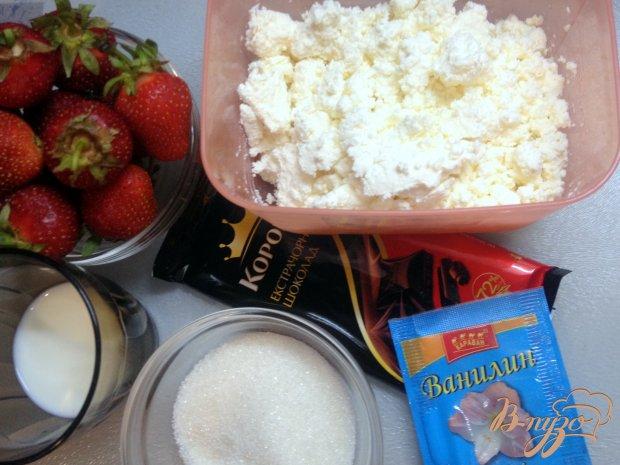 Рецепт Творожный десерт с клубникой