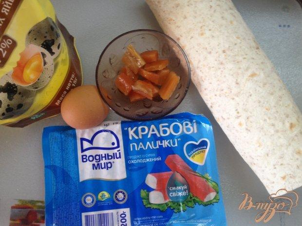 Рецепт Рулет из лаваша с лососем и крабовыми палочками