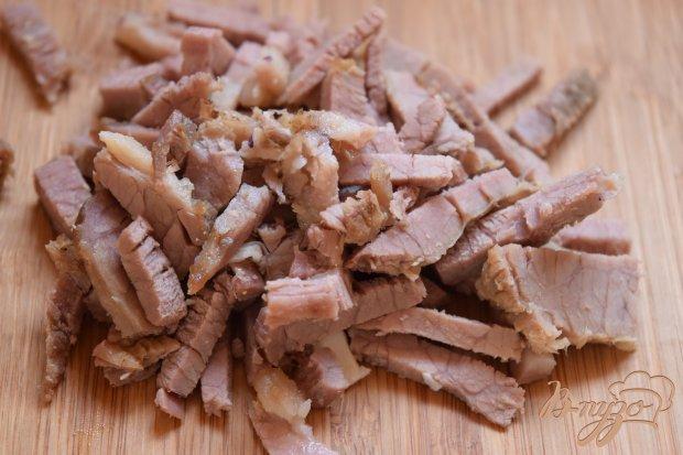 Рецепт Салат со свининой и краснокачанной капустой