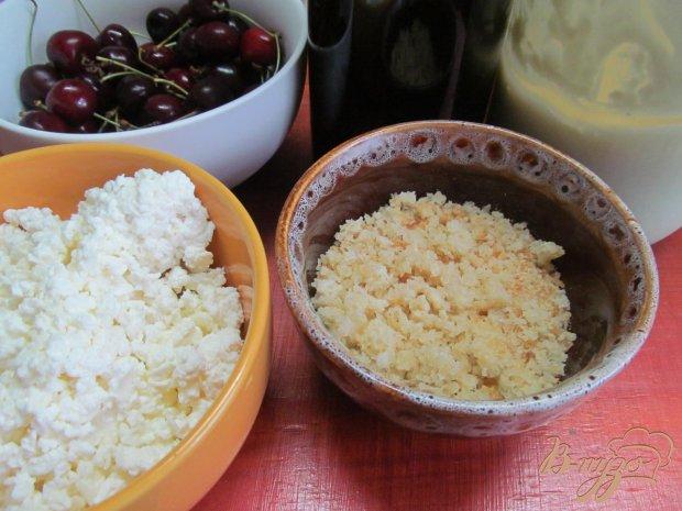 Рецепт Творожный десерт с черешней и шоколадом