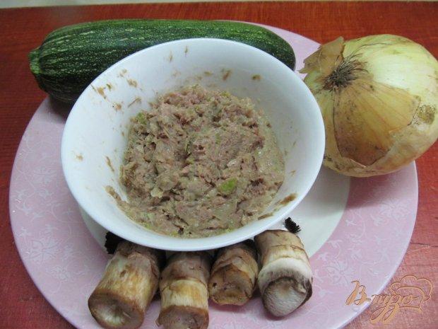 Рецепт Закуска из кабачка с фаршем