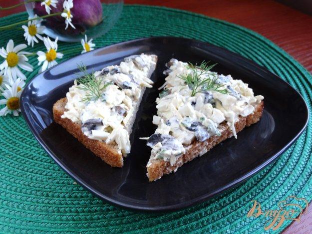 фото рецепта: Бутербродная паста с грибами и сыром