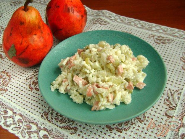 фото рецепта: Салат Оливье с рисом