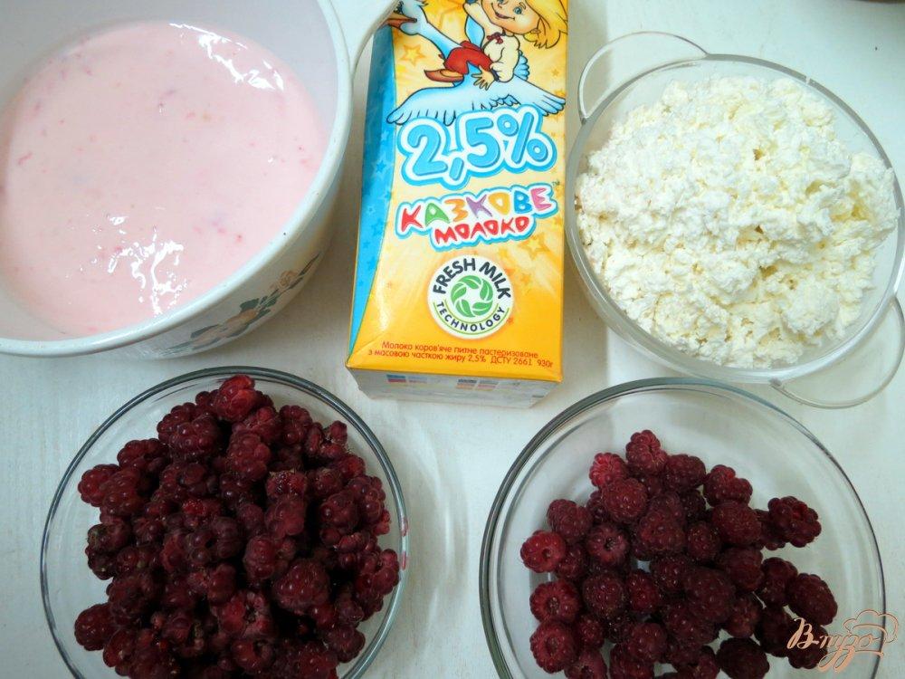 Рецепт Коктейль с творогом молоком и малиной