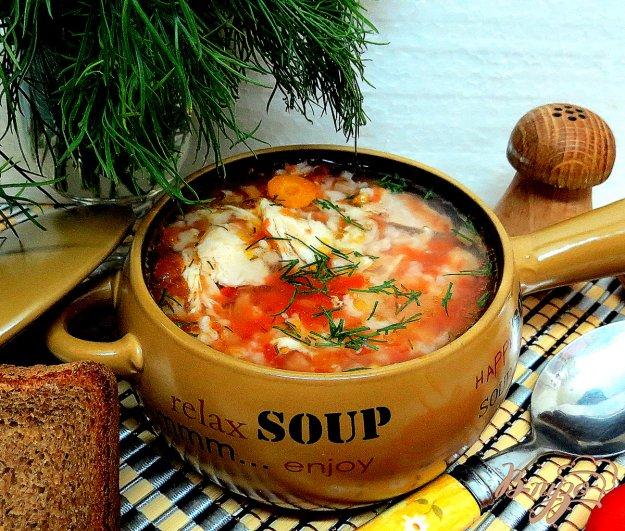 фото рецепта: Суп с рисовый с томатами