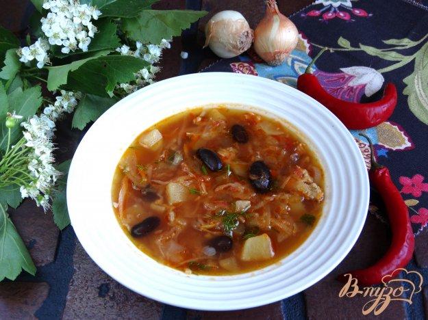 фото рецепта: Борщ с черной фасолью прето
