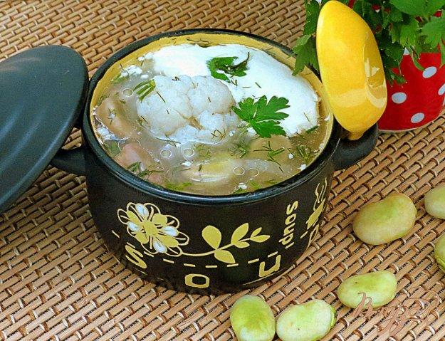 фото рецепта: Суп из бобов и цветной капусты