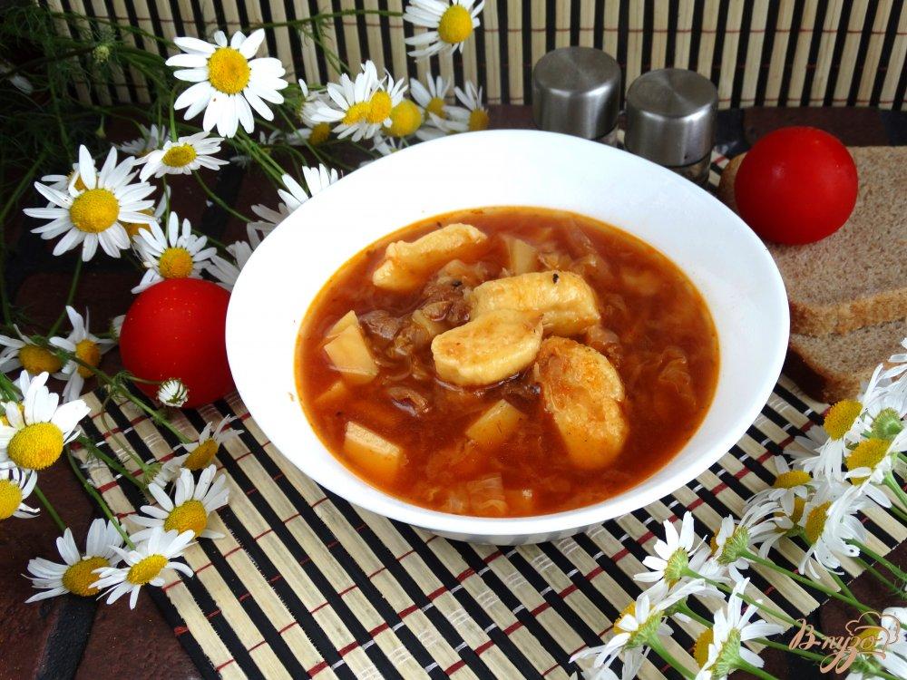 Борщ с галушками рецепт пошагово