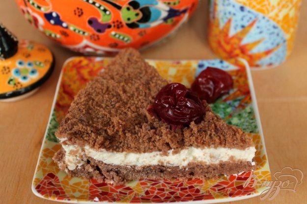 фото рецепта: Шоколадный торт с творожным кремом