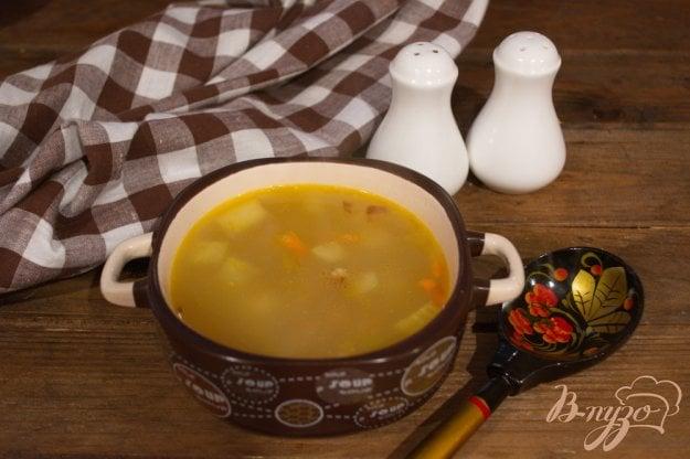 фото рецепта: Суп с копченым окорочком