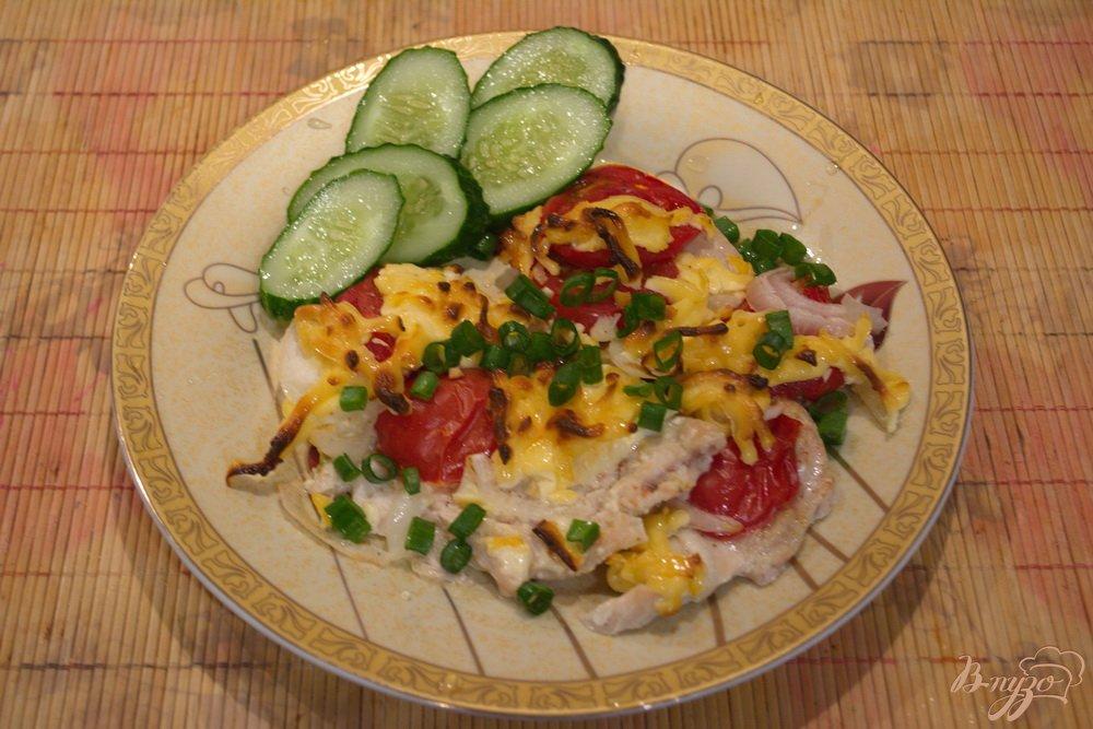мясо под помидорами с сыром в духовке рецепты