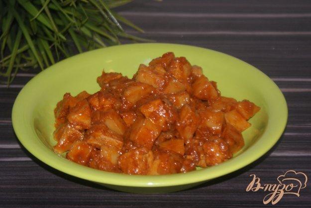 фото рецепта: Свинина с овощами в томатном соусе