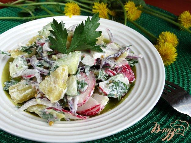 фото рецепта: Немецкий картофельный салат с редисом
