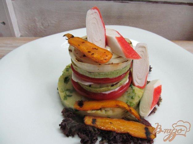 фото рецепта: Овощи гриль с крабовыми палочками