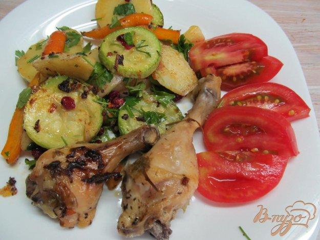 фото рецепта: Овощи с тушенной курицей