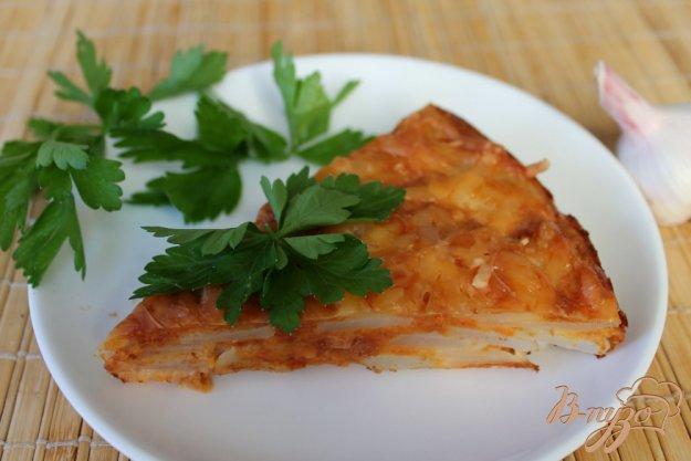 фото рецепта: Творожная запеканка с картофелем и морковкой