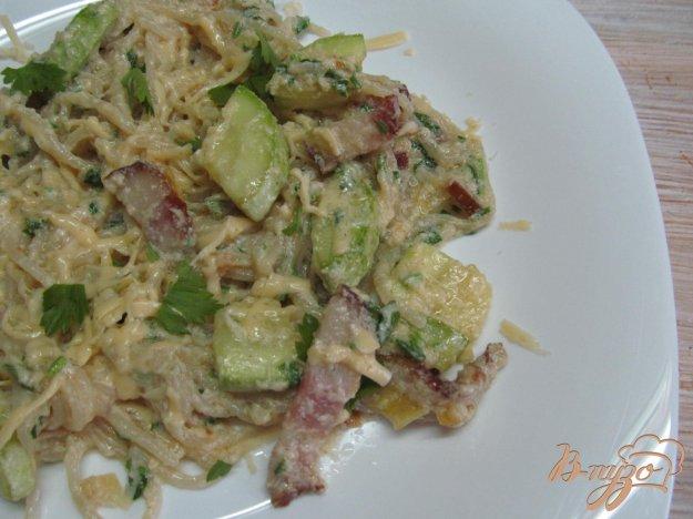 фото рецепта: Карбонара с кабачком