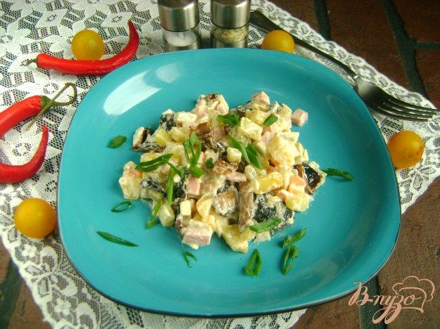 Олів'є з ковбасою і смаженими грибами. Як приготувати з фото