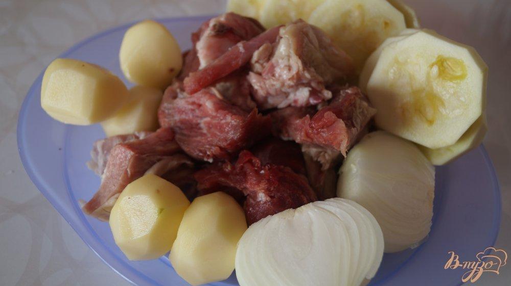 Рецепт Свиные котлеты с кабачком и картофелем