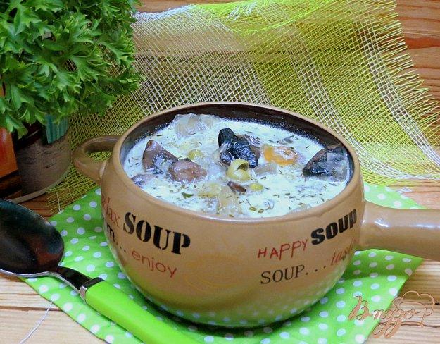 фото рецепта: Суп с шампиньонами и горошком