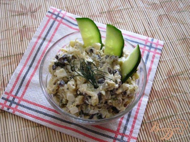 фото рецепта: Салат с жаренными грибами