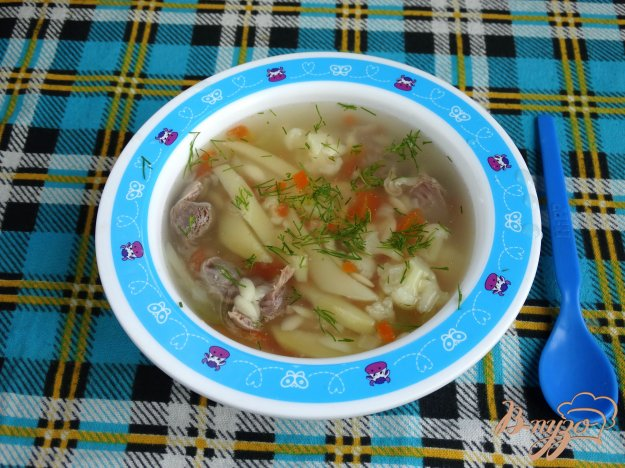 фото рецепта: Суп с куриными желудочками и орзо