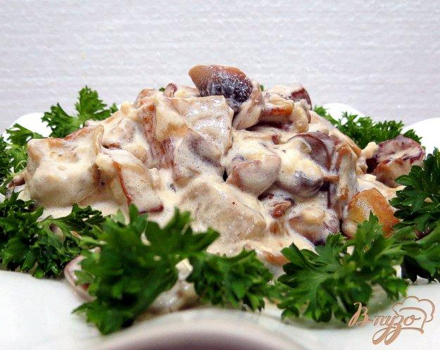 фото рецепта: Баклажаны с грибами