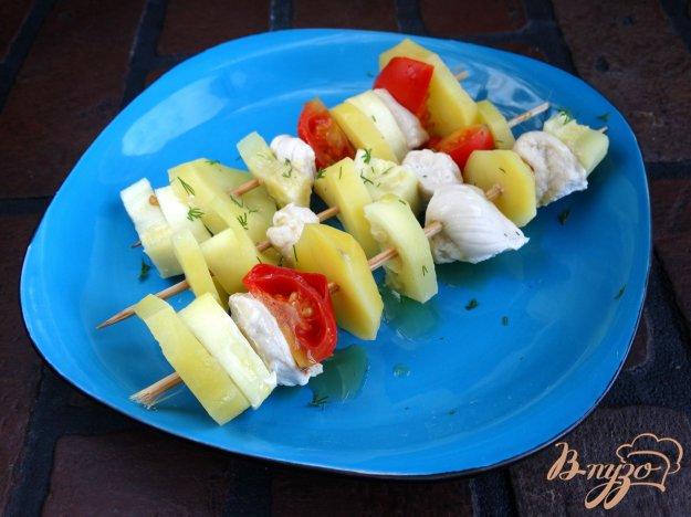 Курячі шашлички з овочами на пару. Як приготувати з фото