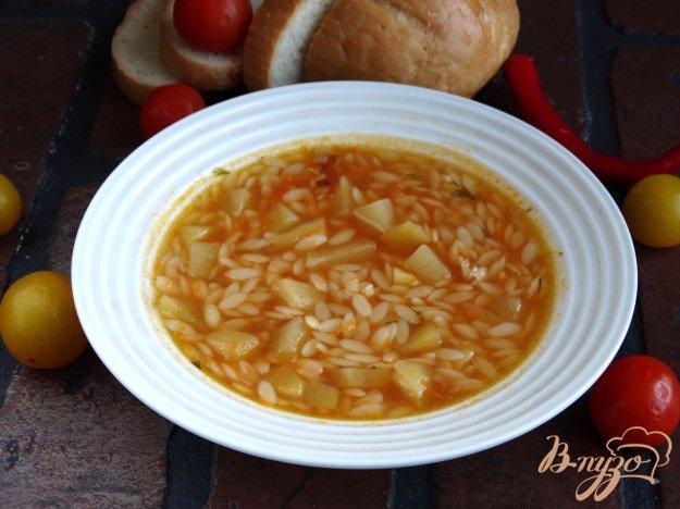 фото рецепта: Томатный суп с ризони