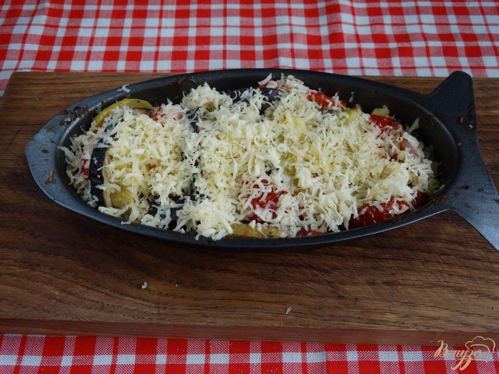Фото приготовление рецепта: Рататуй запеченный с сыром шаг №9