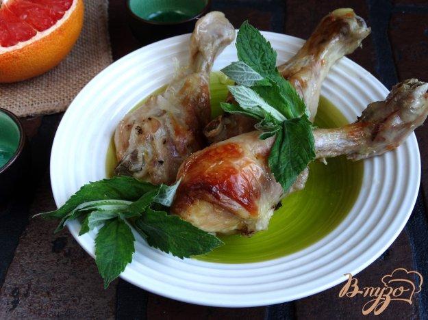 фото рецепта: Куриные голени в грейпфрутово-мятном маринаде