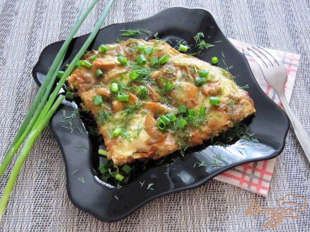 фото рецепта: Омлет с соевым соусом и курицей
