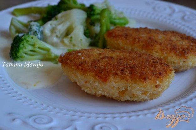 фото рецепта: Рисовые котлеты с креветками