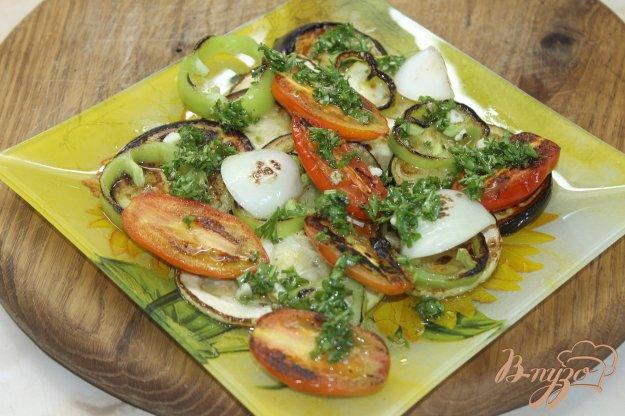 фото рецепта: Овощи гриль на сковороде