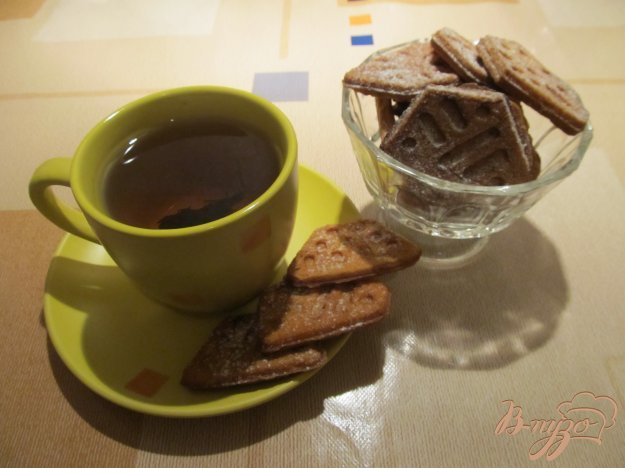 фото рецепта: Вафельное печенье в форме