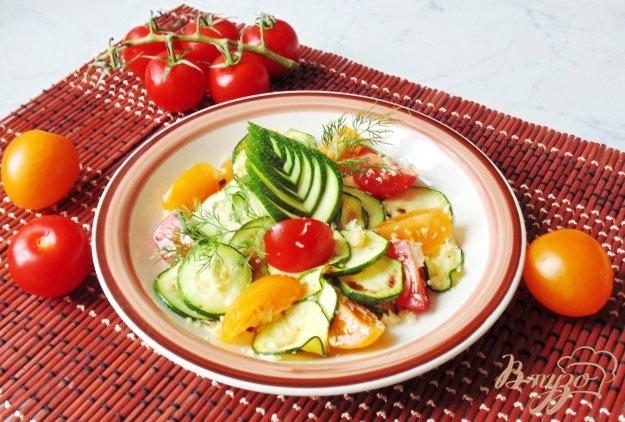 Салат з цукіні з помідорами черрі. Як приготувати з фото