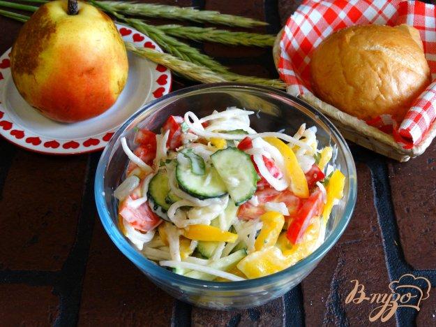 фото рецепта: Овощной салат с дайконом
