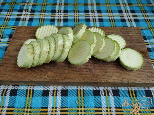 Рецепт Кабачковая закуска с сыром и маслинами