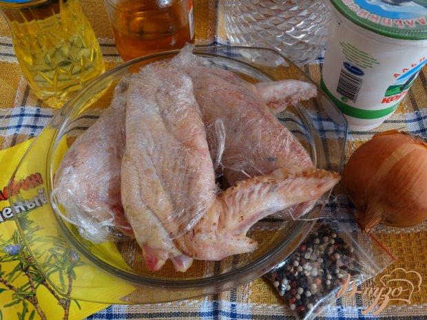 Рецепт Крылья индейки запеченные в сметанном соусе