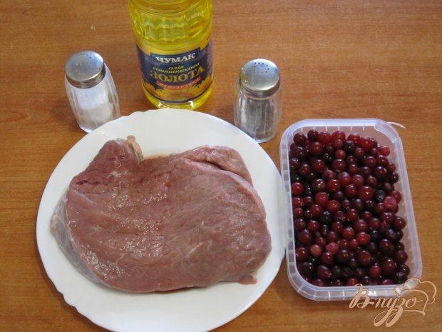 Рецепт Говядина с ягодами клюквы