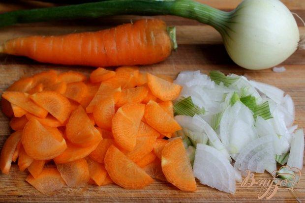 Рецепт Овощной суп с яйцом и сухариками