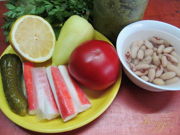 Рецепт Салат из фасоли и крабовых палочек