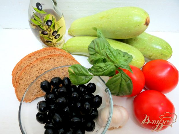 Рецепт Закуска из кабачков с оливками