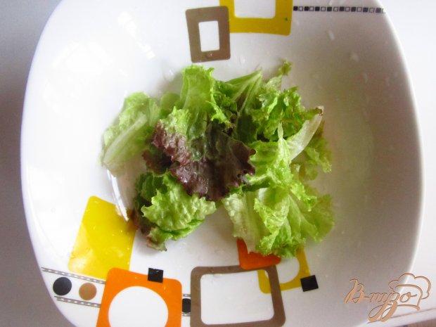 Рецепт Салат с куриными сердцами и сырным соусом