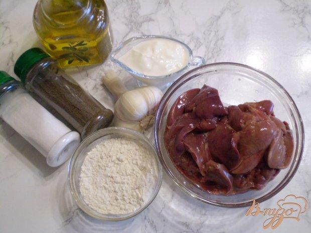 Рецепт Куриная печень с чесноком в сметане