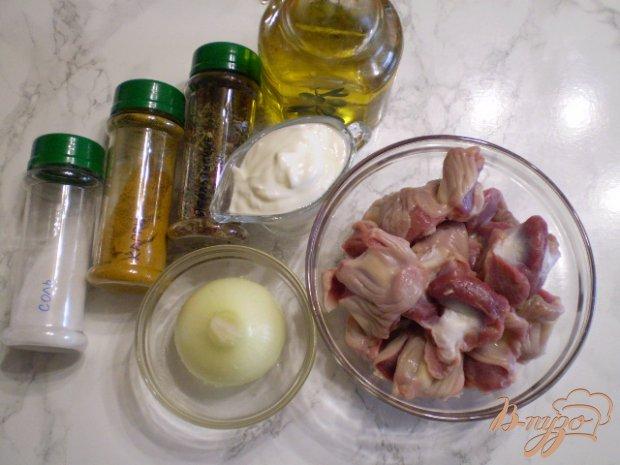 Рецепт Желудки в сметане с карри и итальянскими травами
